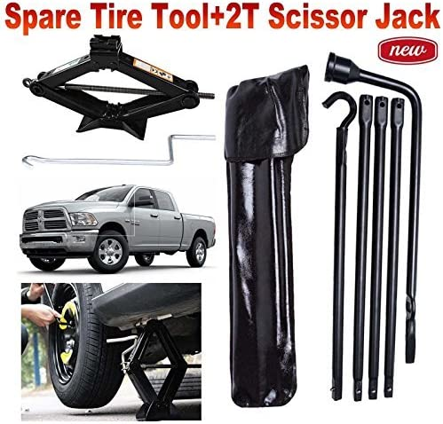 Replacement for Jack 02-15 Dodge Ram Spare Lug Wrench Tire Ext Tools Kit Bag Set