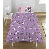 Emoji Unicorn UK Single/US Twin Duvet Cover and Pillowcase Set
