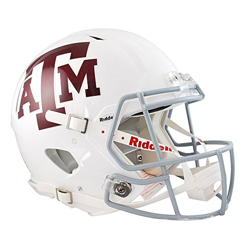 Texas A&M Aggies White Officially Licensed Revolution Speed Authentic Football Helmet