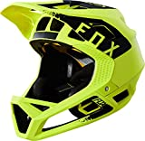 Fox Proframe Full Face MTB Bike Helmet (Mink Yellow/Black, XLarge)