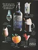 roman recipes - Magazine Print Ad: 1982 Sambuca Romana Liquore Classico, 6 recipes,How do you enjoy Sambuca Romana when you run out of coffee beans?