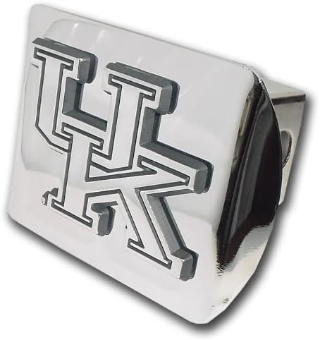 University of Kentucky Wildcats Royal Blue with Chrome UK Emblem NCAA College Sports Trailer Hitch Cover Fits 2 Inch Auto Car Truck Receiver