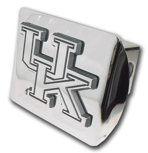 Elektroplate University of Kentucky Wildcats Bright Polished Chrome with UK Emblem Metal Trailer Hitch Cover Fits 2 Inch Auto Car Truck Receiver with NCAA College Sports Logo ()