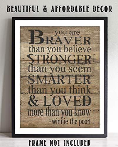 (Winnie the Pooh Quotes-Wall Art Decor-