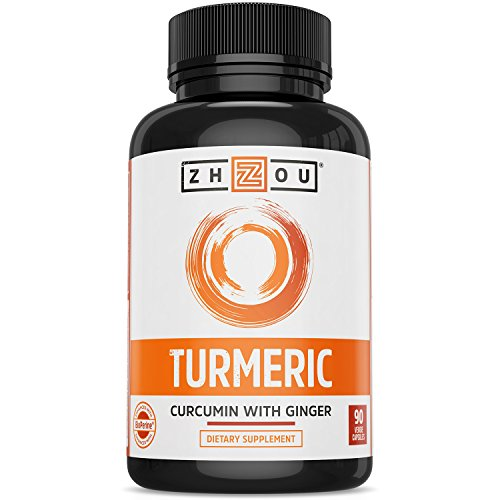 Turmeric Curcumin and Ginger with Bioperine 1800 mg – Includes 95% Curcuminoids – Extra Strength Antioxidant for Maximum Joint Comfort and Mobility – Non-GMO & Gluten Free – 90 Veggie Capsules