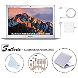"Apple 13.3"" MacBook Air (2017) Laptop, Intel Core i5 (Up To 2.9GHz), 8GB RAM 128GB SSD w/Saiborie 39 Value White Cover, 3-Pack Lightning Cables(3,6,10 Feet), Screen Cleaning Cloth"