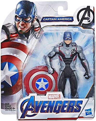 collector Avengers Endgame - Captain America Team Suit - Action Figure with Accressory, Approx 6