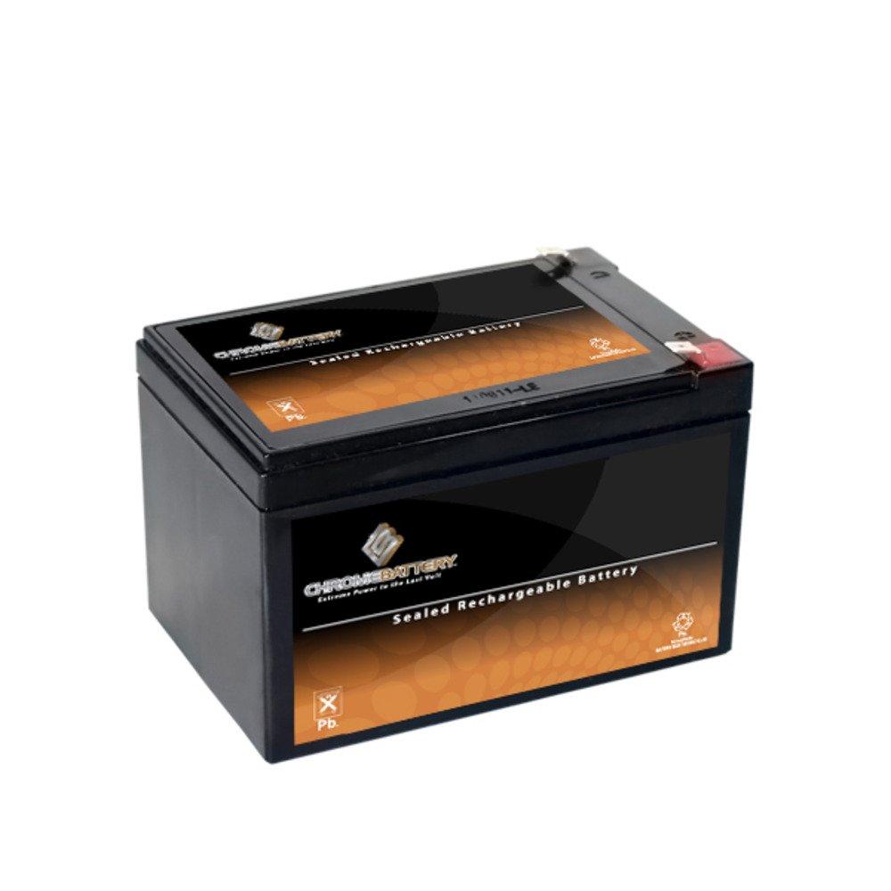 Chrome Battery 12V 12AH Sealed Lead Acid (SLA) Battery for Toy Car Play Mobile Scooter