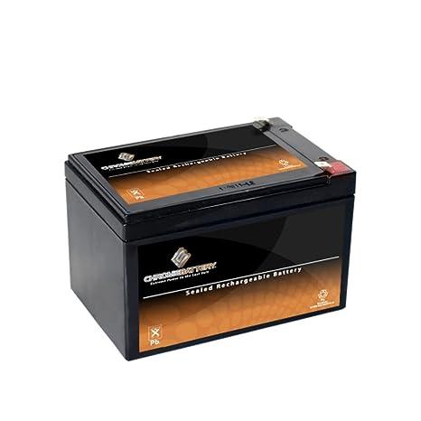 Amazon.com: Batería de cromo 12 V 12 AH de plomo ácido ...