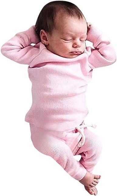 Mayogo Ropa Para Bebes Conjunto Tops Camiseta Manga Largo Pantalones Largos Color Solido Ropa Bebe Recien Nacido Otono Ropa De Dormir Para Bebe Disfraz Premium De 0 24 Mese Amazon Es Ropa Y