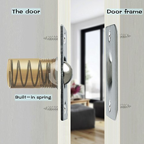 Alise PZ002-2P Drive-in Closet Door Ball Catch,with Stainless Steel Strike Plate,2 Pcs by Alise (Image #4)