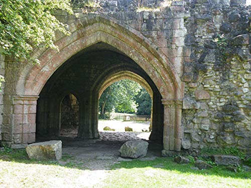 Home Comforts Canvas Print Old Arch Stone Archway Portal Architecture Vivid Imagery Stretched Canvas 32 x 24
