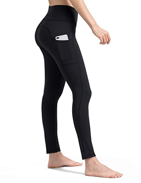 new arrival wide selection of colours and designs recognized brands ALONG FIT Leggings with Pockets, Yoga Pants Mesh High Waist Gym Tights for  Women Tummy Control Non See-through