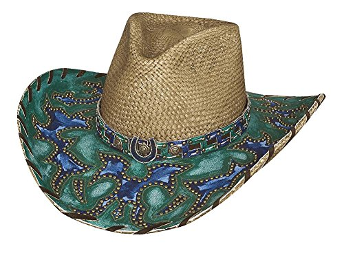 Montecarlo Bullhide Hats WIND OF CHANGE Panama Straw Western Cowboy Hat (Medium)