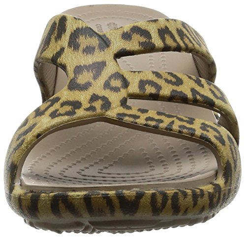 Leopard Crocs Wedge 35 Strappy Eur Femmes Sanrah Graphic r0AtT0