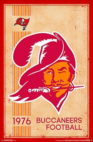 Trends International Tampa Bay Buccaneers Retro Logo Wall Poster 22.375