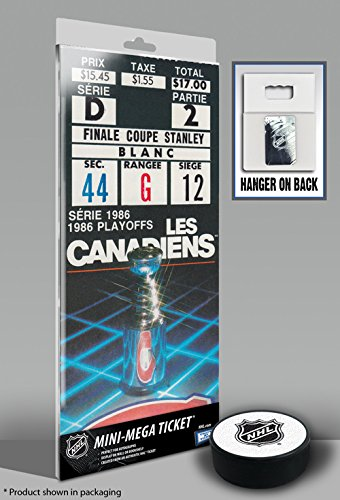 1986 NHL Stanley Cup Finals Mini-Mega Ticket - Montreal Canadiens