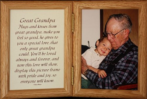 Amazon 5x7 Hinged Great Grandpa Poem Oak Picture Photo Frame
