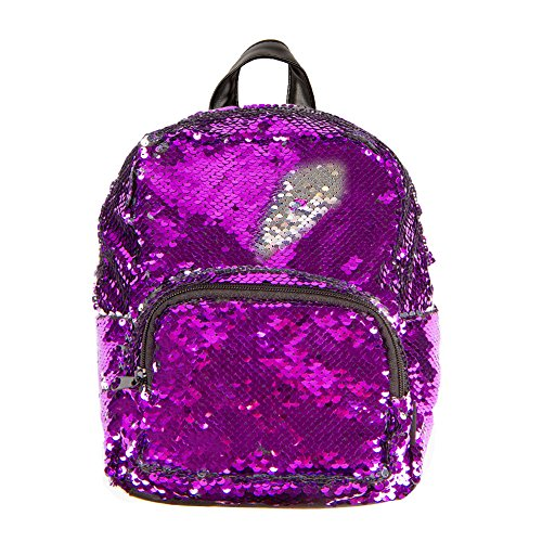 Style.Lab by Fashion Angels Magic Sequin Mini Backpack - Purple/ Silver