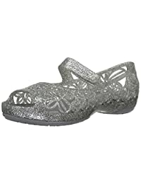 Crocs Girl's Isabella Glitter Flat Pre-School Ballet Flats