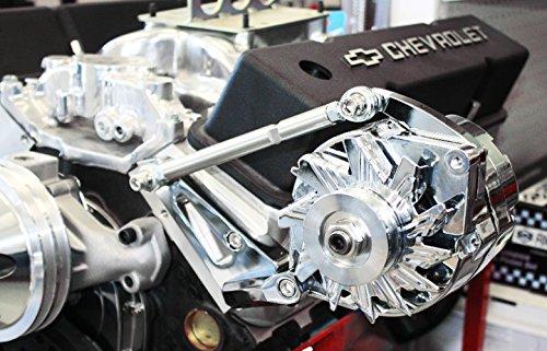 Alternator Bracket Driver - SBC Chevy Chromed Aluminum Driver Side Alternator Bracket Short Water Pump SWP