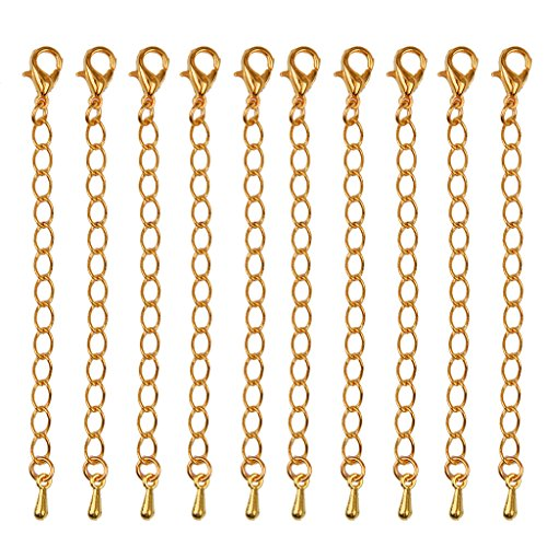 Necklace Extenders Jewelry Extension mm Gold