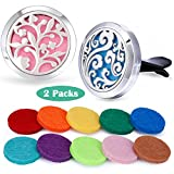 Car Fragrance Essential Oil Prume Diffuser Vent Clip Aroma Outfitters-Tree of Floral & Cloud Set
