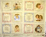 44'' Wide Learn To Pray Soft Book Cotton Fabric By The Panel