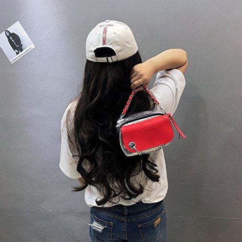 Mini CJshop unique sac large étages Nouveau femme Gules bandoulière oblique petit tide bandoulière à sacoche sac organe multi sac lattice 8qPrZ8n