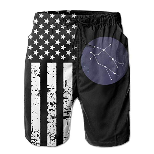 TBVS 79 Gemini Constellation Men's Quick Dry Hawaiian Shorts for Surf Sand and Fun (12 Good And Bad Qualities Of A Gemini)