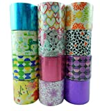 Unik Craft Duct Tape Variety Assortment 12 Count, Each Roll 1.88 inches x 16 Feet (Multicolor Set G)