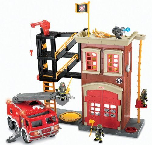 Fisher Price Imaginext Fire Truck Playset by Imaginext