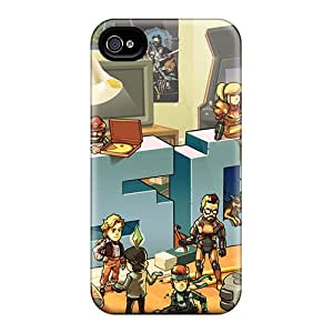 Tpu Fashionable Design Characters Rugged Case Cover For Iphone 4/4s New