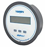 TEREN Economical Digital Differential Pressure Gauge, D2L3, 1% Accuracy, 5 Units Selectable, AA Battery x 4, Range 1.0'' WC, 4 Bits LCD