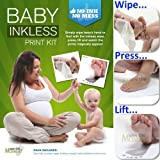 Save The Moment Inkless Wipe Hand and Foot Print Kit with 2 Large Coated Papers (Black)