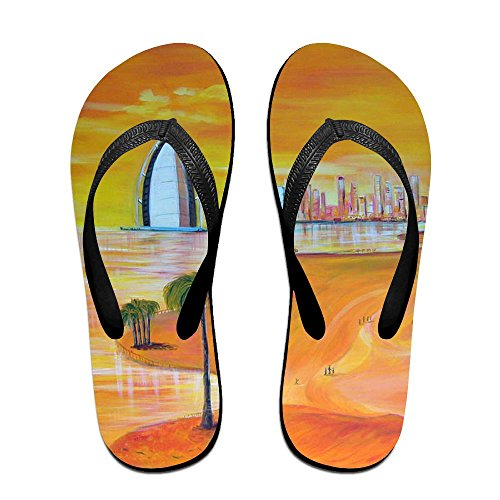 Painting Flip for Oil Men Kids PTJHKET Black Slippers Women Flops ATwW7t