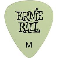 Ernie Ball P09225 Super Glow Cellulose Medium Picks, Bag of 12, Medium