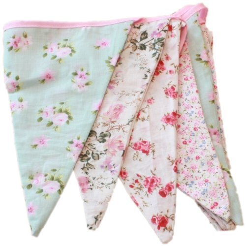 West5Products English Vintage Floral Design Party Bunting (3 meters)