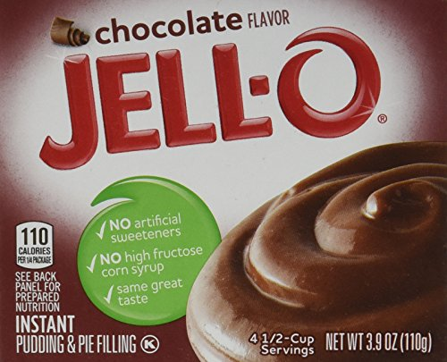 JELL-O Instant Chocolate Pudding & Pie Filling Mix (3.9 oz Boxes, Pack of 24) - Instant Chocolate Pudding