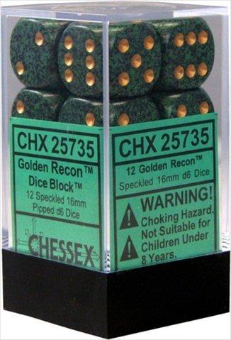 【限定製作】 Chessex Speckled Manufacturing 25735 Golden Recon Manufacturing Speckled - B00806OZVG 6 Sided 16 mm Dice Set Of 12 B00806OZVG, 玉造町:347a101e --- hohpartnership-com.access.secure-ssl-servers.biz