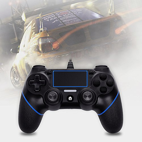 LREGO Wired Controller for PS4, DualShock 4 Wired Controller Wired Gamepad with 1.9m Cable(Updated) by LREGO (Image #6)