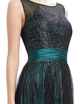 Ever Pretty Sleeveless Shimmery Floor Length Prom Dress 08740