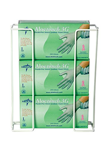 - AliMed Wire Glove Box Holder, Triple, Horizontal