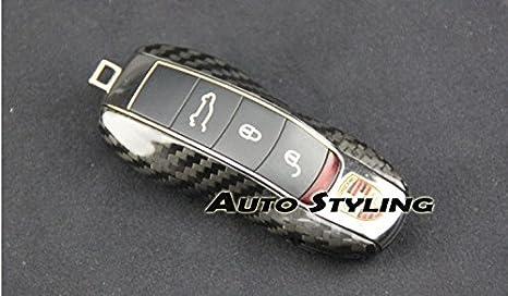 Carcasa para llave de Porsche remoto caso Shell Vivienda Side pintado Trim Boxster Carrera Cayenne Caimán Macan Panamera 981 718 991 918 Spyder 911 GTS S ...