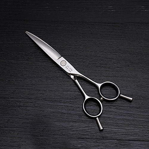 ヘアカット鋏 はさみ 6インチ美容院プロのヘアカット兼用バリカン、ヘアカットステンレス鋼トリマー ヘアトリミングシザー (Color : Silver)