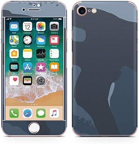 igsticker iPhone SE 2020 iPhone8 iPhone7 専用 スキンシール 全面スキンシール フル 背面 側面 正面 液晶 ステッカー 保護シール 004050 チェック・ボーダー 迷彩 カモフラ 模様
