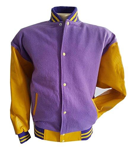 Original Windhound College Jacke blau mit beige Echtleder Ärmel L