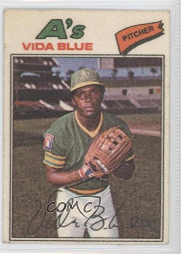 Vida Blue COMC REVIEWED Good to VG-EX (Baseball Card) 1977 Topps Baseball Patches Cloth Stickers #4 (Cloth 1977 Topps)
