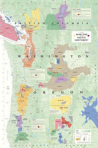 Wine Map of the Pacific Northwest