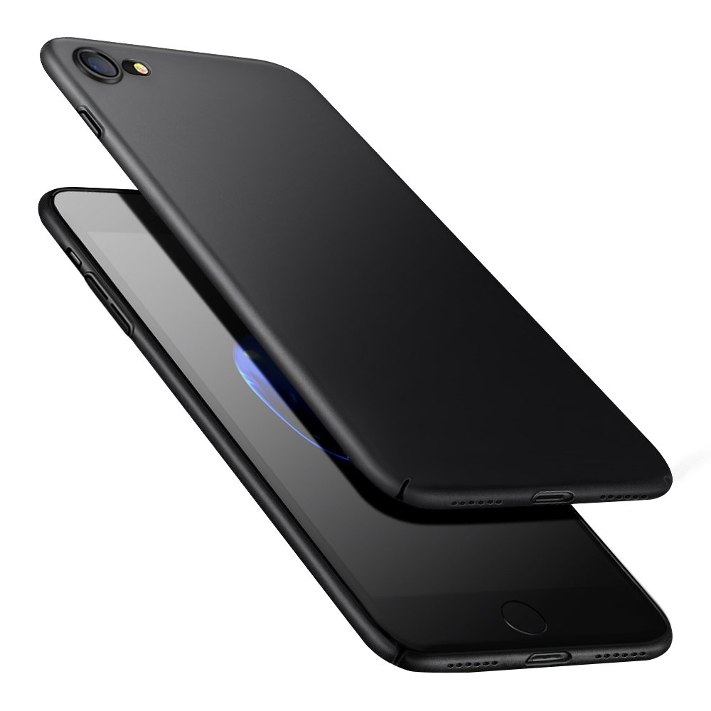 Funda Carcasa iPhone 8 iPhone 7, POOPHUNS Fundas Carcasas Case Caso para iPhone 8 iPhone 7, Negro, Ultra-Delgado, Anti-Rasguñ o, Anti-Golpes, Anti-Está tico, Ligera, Ajuste Perfecto, Skin Series Anti-Rasguño Anti-Estático BLBPCYKIP7BK